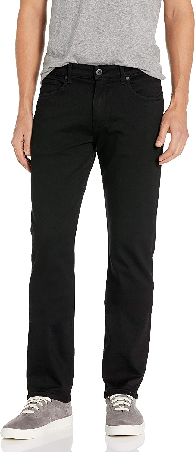 PAIGE Men's Tall Size Normandie Extra Long Slim Straight-Fit Jean in Black Shadow