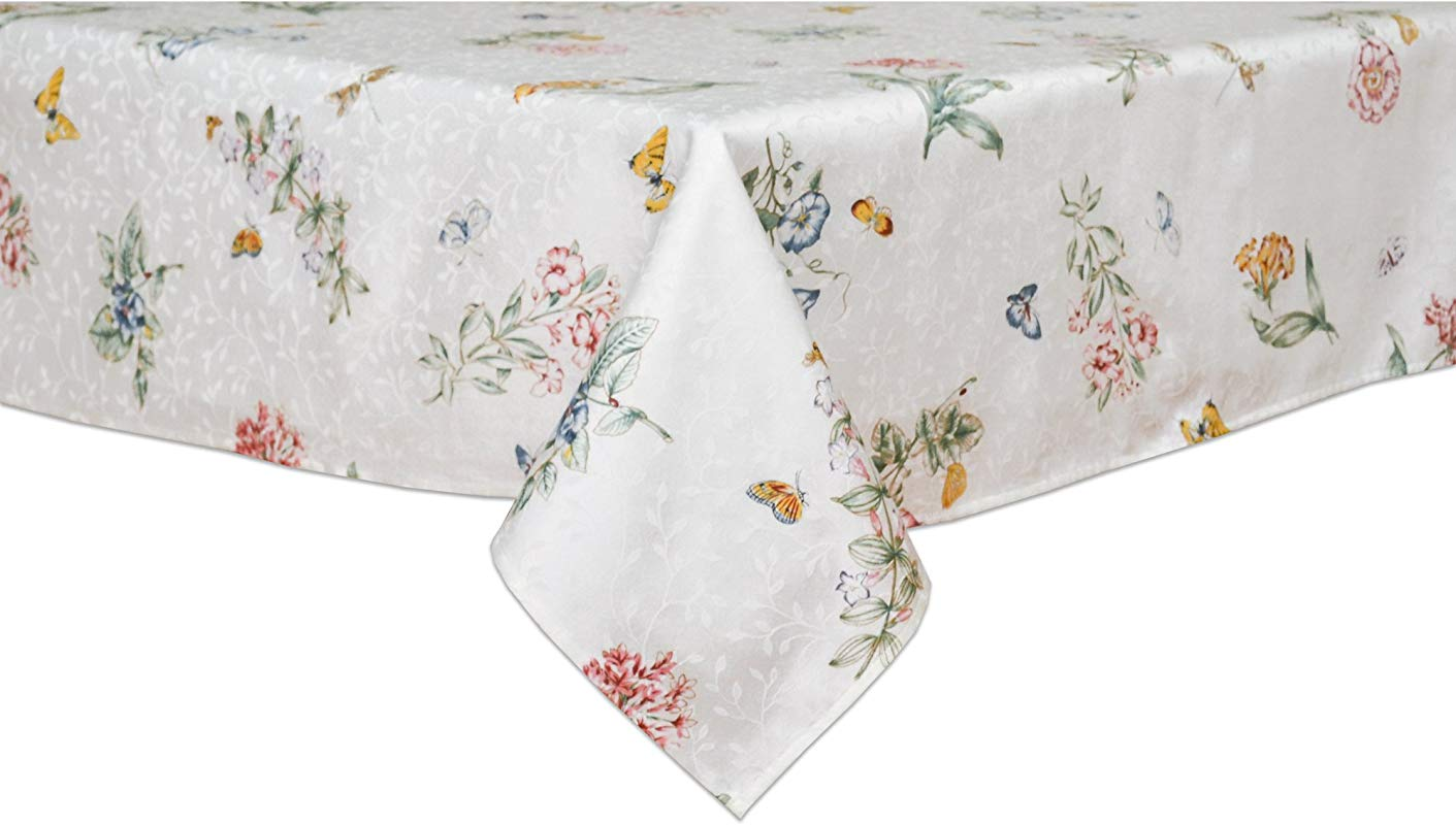 Lenox Butterfly Meadow 60 Inch By 120 Inch Oblong Rectangle Tablecloth