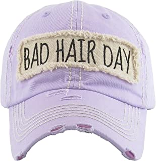 f65342893d9 Funky Junque Womens Baseball Cap Distressed Vintage Unconstructed  Embroidered Dad Hat