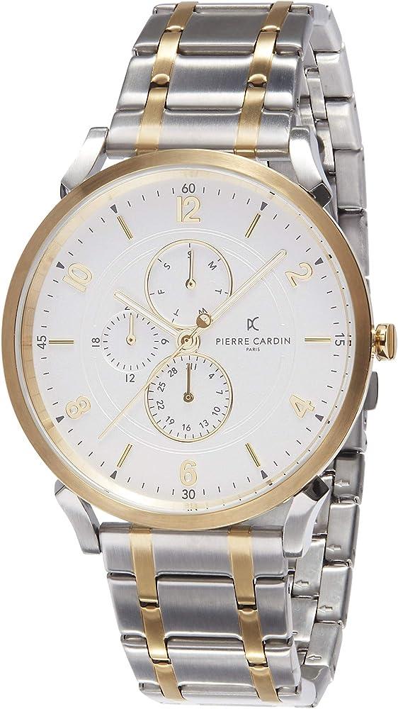 Pierre cardin, orologio multi-quadrante per uomo,in acciaio inossidabile CPI.2037