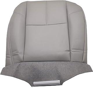 غطاء مقعد من الجلد من OKAY MOTOR رمادي اللون لسيارة 2007-2010 شيفروليه سيلفرادو 2500 3500