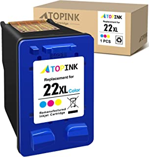 ATOPINK Remanufactured Ink Cartridge Replacement for HP 22XL 22 XL Compatible with OfficeJet 4315 J3680 J3508 J3606 J3608 ...