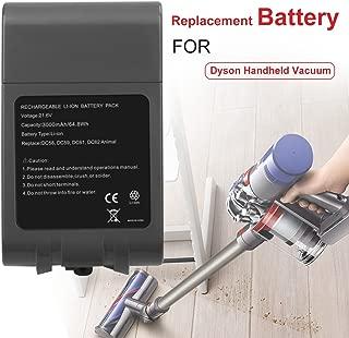 RayWEE Cordless Handheld Vacuum Cleaner Li-ion Replacement Battery for Dyson V6 DC58 DC59 DC61 DC62 DC72 DC74 SV03 SV05 SV06 SV07 SV09 965874-02 (21.6V 3000mAh/64.8Wh)