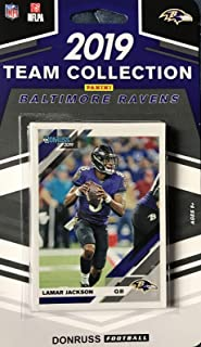 Baltimore Ravens 2019 Donruss Factory Sealed 10 Card Team Set with Lamar Jackson and Rated Rookies of Marquise Brown and Miles Boykin Plus 5 Other Cards