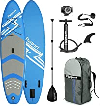 Premium Inflatable Stand Up Paddle Board (6 inches Thick) with Durable SUP Accessories & Carry Bag   Wide Stance, Surf Con...