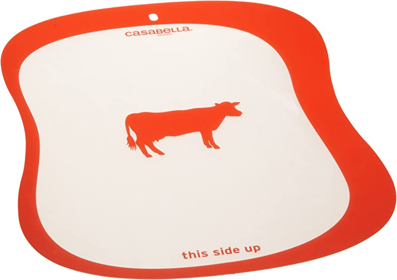 Casabella 16 Inch By 12 1 4 Inch Silicone Cutting Boards Set Of 4 Assorted Colors