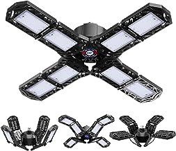 LED-garageverlichting, 15000LM Vervormbare LED-garage-gloeilampen Daglicht 6500K met 8 verstelbare panelen voor garage Mag...