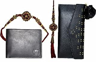 TripinLife Combo of 2 Rakhi and 2 Wallet Gift for Bhai-Bhabhi