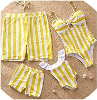 Family Matching Swimsuit Mother Daughter Bikini dad Son Swim Trunks Family Matching Outfits