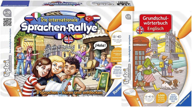 Ravensburger tiptoi Set - Die Internationale Sprachen-Rallye und Grundschulwrterbuch Englisch - 9120063892167