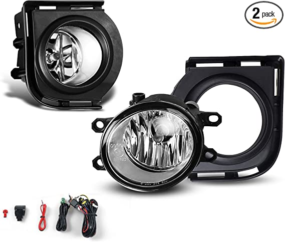 Fit Scion xB 08-10 Clear Lens Pair OE Fog Light Lamp+Wiring+Switch Kit DOT Bulb