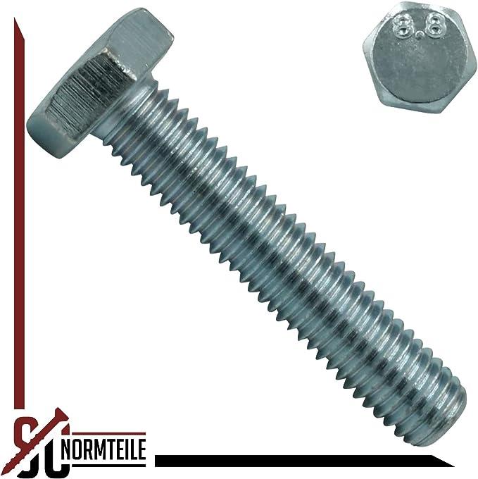Sechskantschrauben mit Gewinde bis zum Kopf M 6x20 mm 8.8 verzinkt DIN 933 500 St/ück