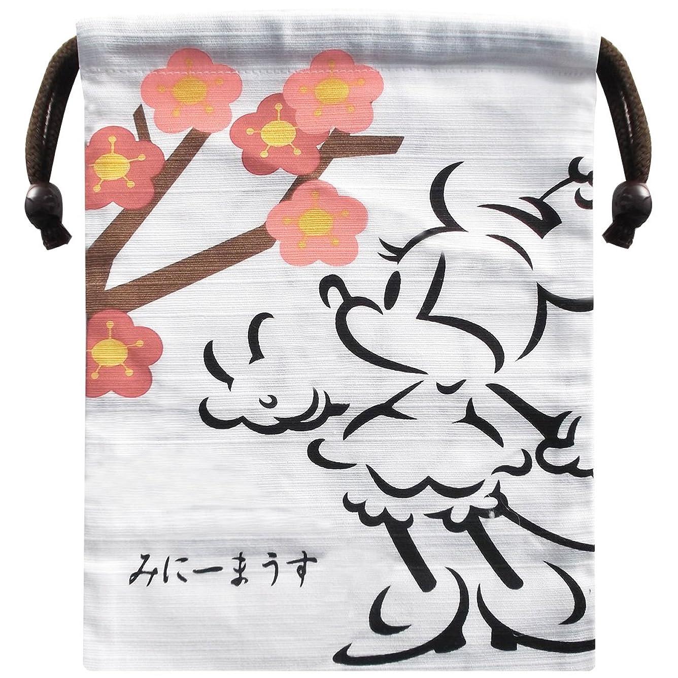 該当する直接テスピアンディズニー ミニーマウス シャンタン巾着 桜 約H20 x W15.8cm APDS2173