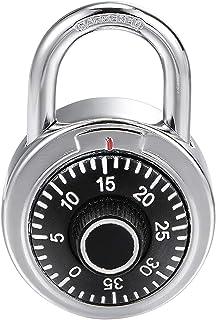 uxcell Combination Padlock Locker Lock 6mm Diameter Steel Shackle 45mm Body Width