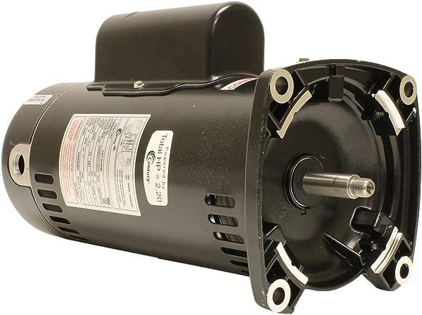 Century USQ1202 2 HP 3450 RPM 48Y Frame Capacitor Start Capacitor Run ODP Enclosure Square Flange Pool Motor