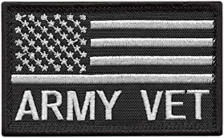 LEGEEON USA American Flag Army Veteran Vet 2x3.25 Morale Tactical Hook-and-Loop Patch