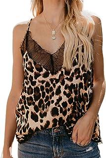 3dc32b77d4880f Astylish Women s Summer Floral Print Sleeveless Spaghetti Strap Cami Tank  Tops