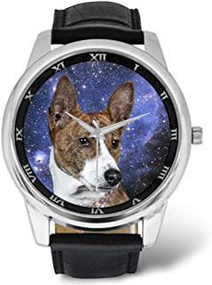 Watches Printing Dog Themed - Basenji Dog Nebula
