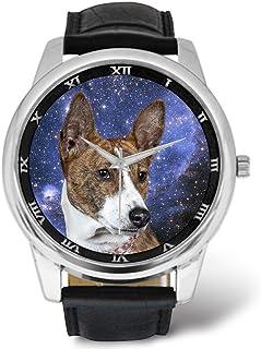 Watches Printing Dog Themed - Basenji Dog Nebula