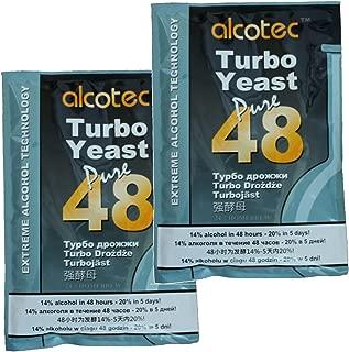 Alcotec 48 Hour Turbo Yeast (Pack of 2)