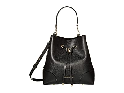 MICHAEL Michael Kors Mercer Gallery Medium Convertible Bucket Shoulder (Black) Shoulder Handbags