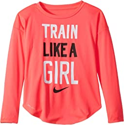 Train Like a Girl Modern Long Sleeve Tee (Toddler)