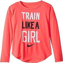 Train Like a Girl Modern Long Sleeve Tee (Toddler)