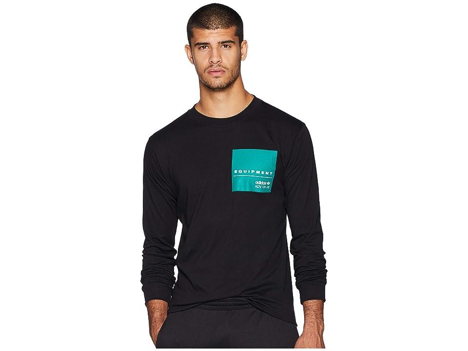 adidas Originals EQT Long Sleeve Graphic Tee (Black) Men's T Shirt
