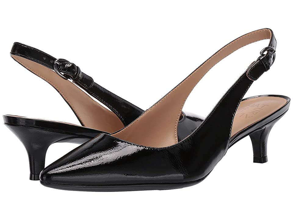 Pin Up Shoes- Heels, Pumps & Flats Naturalizer Peyton Black Patent Leather Womens 1-2 inch heel Shoes $98.95 AT vintagedancer.com