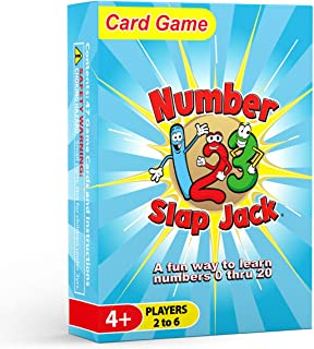 Number Slap Jack - a Fun Number Recognition and Counting Card Game - Kids learn Numbers 0-20 While Playing a Fun Game - Pe...