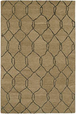 Kaleen Rugs Casablanca Collection CAS02-82 Lt. Brown Hand Tufted 8' x 11' Rug