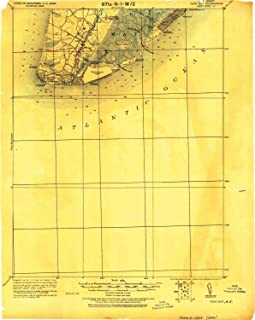 YellowMaps Cape May NJ topo map, 1:62500 Scale, 15 X 15 Minute, Historical, 1925, 20.8 x 16.6 in
