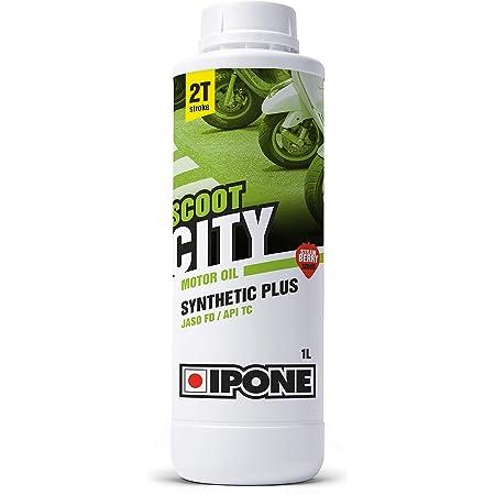 IPONE – Huile Scooter 2 Temps Scoot City - Bidon 1 Litre - Lubrifiant Semi-Synthétique Haute Qualité - Formulation Anti-Fumée Idéale pour Utilisation Urbaine - Option Fraise