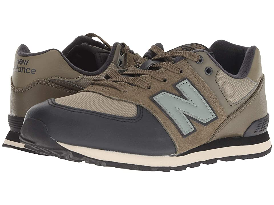 New Balance Kids GC574v1 (Big Kid) (Covert Green/Triumph Green) Boys Shoes