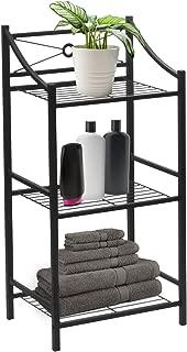 Sorbus Bathroom Storage Shelf, 3-Tier Freestanding Toilet Storage Shelves — Display Bath Essentials, Planters, Books (3-Tier)