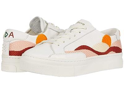 Soludos Hawaiin Fauna Platform Sneaker (White) Women