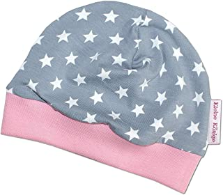 Kleine Könige Mütze Baby Mädchen Beanie  Mitwachs-Funktion  Modell Superstar grau rosa  Ökotex 100 Zertifiziert  Größen 50-104