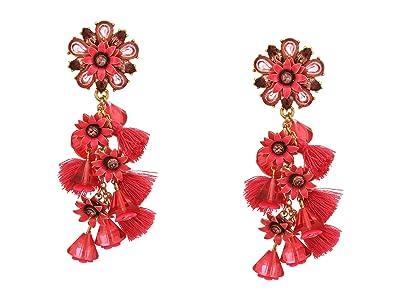 J.Crew Bloom Flower Statement Earrings (Soft Fuchsia) Earring