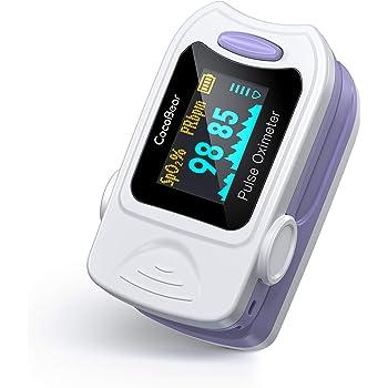 CocoBear Pulsossimetro, Saturimetro da Dito Portatile Professionale, Display Oled per Frequenza Del Polso(PR) e La Saturazione di Ossigeno(Spo2) Misure