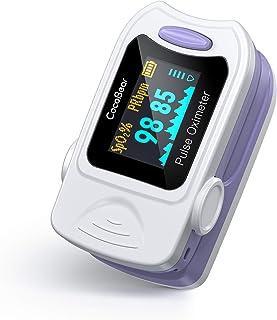 Oxímetro de Pulso CocoBear, Pulsioxímetro de Dedo Portátil Profesional, Pantalla Oled para Mediciones de Frecuencia de Pulso (PR) y Saturación de Oxígeno (Spo2)