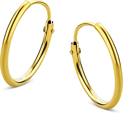 Orovi Vir Jewels - Orecchini a cerchio in oro giallo 9 carati (375)