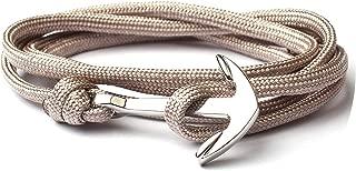 New Silver Anchor Multilayer Rope Bracelets & Bangles Fashion Handmade Jewelry Bracelet for Men Women Friendship Gift