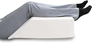 SUPPORT PLUS Elevated Leg Wedge Pillow, Relieves Back/Sciatica Pain, Surgical Injury Recovery, Improves Circulation, Reduc...