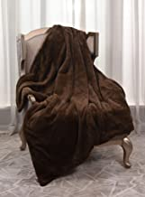 Best Fluffy & Cozy Luxury Rabbit Faux Fur Reversible Sherpa Throw Blanket-50×60 Inches, Brown Review