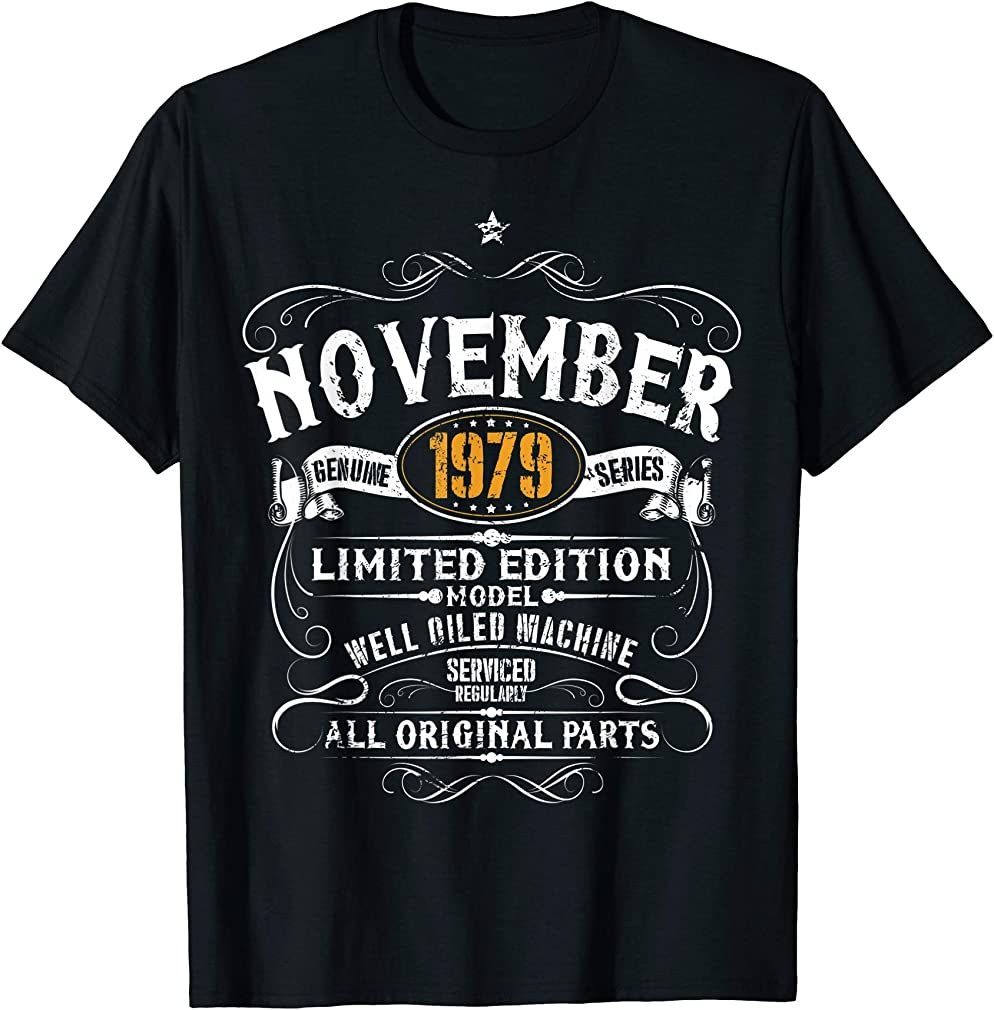 40th Birthday Gift - November 1979 40 Years Funny Vintage T-shirt