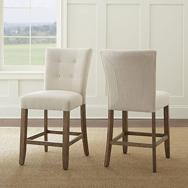 Steve Silver Debby 24 Tufted Counter Stool In Beige