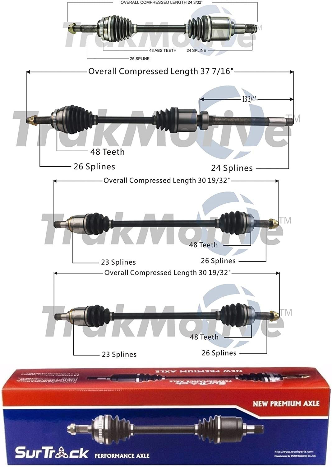 Limited price SurTrack Set of Front Rear CV OFFicial mail order Toyota KIT Matri For Axle Shafts