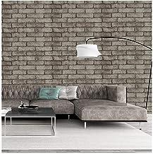 ورق جدران لاصق ذاتي اللصق من الطوب رمادي داكن ورق جدران لسطح المطبخ 17.7 بوصة × 118.7 بوصة