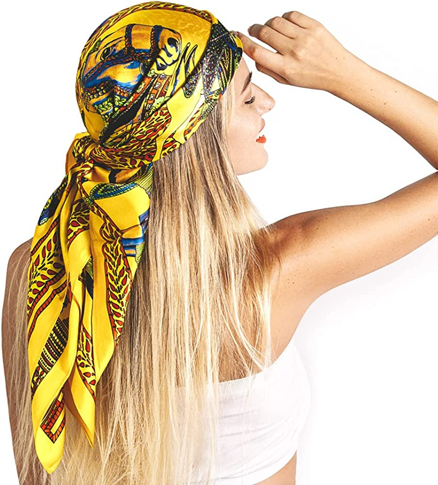Easy-to-use 100% Mulberry Silk Scarf for Hair - Superior Women Pure Real