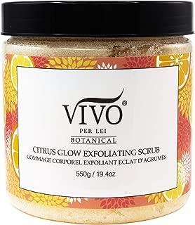 Exfoliating Vitamin C Body Scrub - Wholesome Anti-Aging Exfoliator - Sea Salt Scrub To Oust Dead Skin Cells - Citrus Body Scrub - Vivo Per Lei Body Exfoliator For Nature's Handiwork